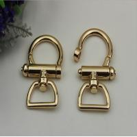 China Fashion high quality zinc alloy light gold 25 mm metal spring snap hook for lanyard wholesale