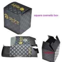 China Square Cosmetic Paper Box with UV coating wholesale
