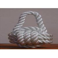 China high quality 8mm nylon 3-strand twist code rope for ship on sale