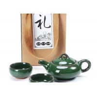 China Gift Packing Promotional Ceramic Mugs Green Small Ceramic Tea Cups With Teaport wholesale