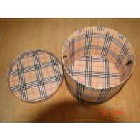 China Barrel shape Paperboard box, Cardboard box with lid and handle wholesale