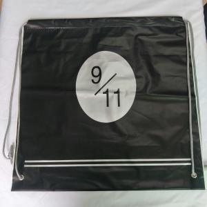 China Transparent Rope Bag Rucksack , Black Outdoor Clear Plastic Drawstring Bags wholesale
