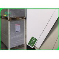 China Single Side Coated White Duplex Board With Grey Back Hard Stiffness 200 - 450gsm on sale