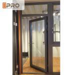 China Customized Design Aluminium Hinged Doors For Construction Buildings wholesale