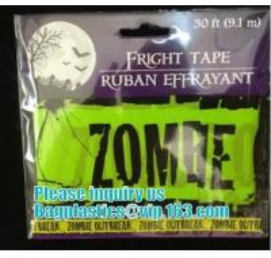 China Halloween Caution Tape , Custom Printing Caution Tape Halloween Banner,Halloween Caution Tape zebra tape bagease pack on sale