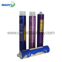 China HS code 761210 Printed soft  empty aluminum tubes with different screw nozzle on sale