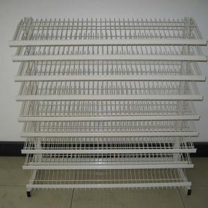 China Floor Standing Adjustable Wire Rack , Mulitple Tier Adjustable Display Shelves wholesale