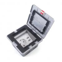 China Electric Pop Up Waterproof Floor Outlet Box Socket With 20 Amps Receptacle wholesale