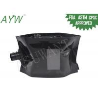 China Glossy Black Liquid Spout Bags Clear Window For Soft Drinks / Energy Drinks wholesale
