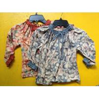 China Rust Circles Colorful Girls Long Sleeve Top , Children Girls Clothes Frills Cuff Neck wholesale