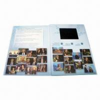 China 4.3-inch LCD Digital Greeting Card with Video, Video in Print, Video Brochure Booklet on sale