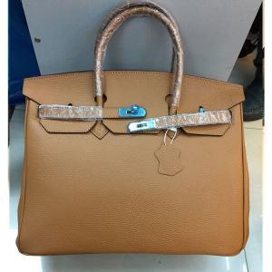 China high quality 40cm camel litchi leather handbags newest fashion ladys handbag L-RB5-2 wholesale