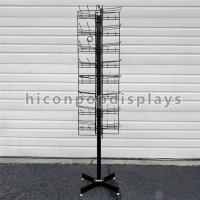 China 8 Tiered 96 Prongs 65 Long Rotating Display Rack Black Color With Hanging Hook on sale