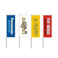 China PET Polyester Outdoor Advertising Flags 60cm x 160cm High Resolution wholesale