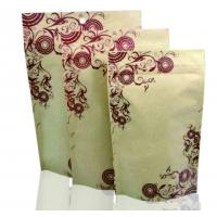 China Food packaging plastic kraft paper stand up pouch zip lock bags with window on sale