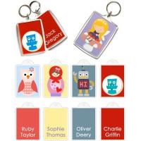 China OEM attractive and various UV lithography Printing technics Personalised Bag Tags wholesale