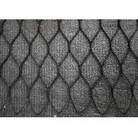 China Black Oxide Hand Woven Wire Rope Mesh , Stainless Steel Diamond Wire Mesh Fencing wholesale