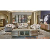 China Light luxury living room sofa set furniture design by hand work Stainless steel frame with high end upholstery chairs wholesale