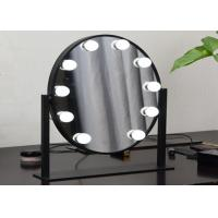 China Elliptical Light Led Bulb Mirror makeup mirror with lights , Double Color Touch Switch wholesale