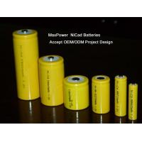 China Customized 1.2Volt NiCd Rechargeable Batteries SC 2000MAH For Baby Monitor wholesale