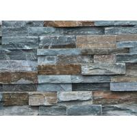 China Green Slate Stone Panel,Rough Face Slate Stacked Stone,Natural Z Stone Cladding,Wall Stone Veneer wholesale