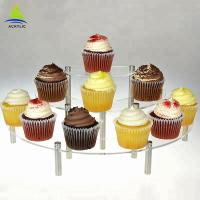 China 3 Tier Acrylic Cake Display Buffet Pastry Curate Acrylic Cupcake Dessert Tower wholesale
