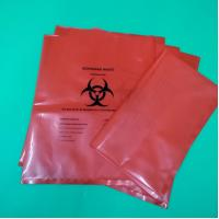 China Biohazard waste bag in red/yellow/black with logo printed for hospital bin liner wholesale