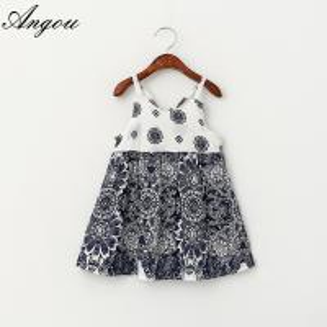 China Wholesale Baby Girls Dress slip floral pattern dress children customizable clothing wholesale