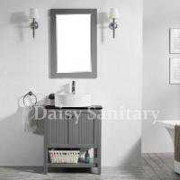 Buy cheap 28 inch Bathroom Vanity solid wood Popular grey Modern style corner cabinet from wholesalers