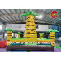 China Commercial Inflatable Climbing Wall , Backyard Rock Climbing Wall For Kids wholesale
