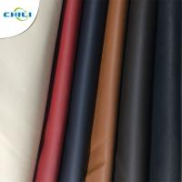 China Solid Color PU Leather Fabric Waterproof Woven Backing Design Smooth wholesale