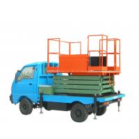 Self propelled vehicle mounted scissor lift , aerial lifting platform Manufactures