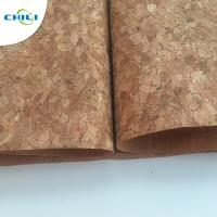China 53'' Cork Leather Fabric Customized Color 0.4±0.05mm Thick For Shoes Application wholesale