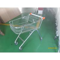 China European Style 71L Shopping Trolley Cart Metal With Swivel Casters wholesale