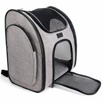 China Ventilate Designed Collapsible Cat Carrier Bag , Airline Approved Pet Carrier Backpack wholesale