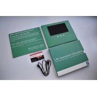China Custom printed designs  LCD video brochure card 7inch LCD screen digital video card with sleeve cover wholesale