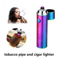 Pulsed Double Arc Electric Rechargeable Cigarette Lighter Gift Package For Men