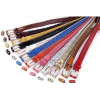 China Women Genuine Leather strap weaving Belts.Lady's Cheap Fashionable Retro leather Wistband wholesale