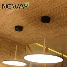 China Modern single ring shaped acrylic pendant lamp one round circle hanging lighting fixtures wholesale