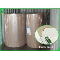 China C1S Duplex Board Carton White Surface Brown Color Back 250gsm 300gsm Rolls on sale