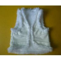 China Suede And Fur Joint Winter Vest Jackets , Warm Womens Sleeveless Vest Jacket wholesale