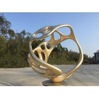 China Handmade Abstract Outdoor Bronze Sculpture , Painted Outdoor Lawn Ornament wholesale
