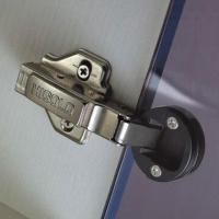 China Two-way Clip-on Glass Soft-closing/Drawer/Cabinet/Door Hinge, 105-degree Opening Angle wholesale