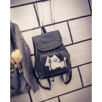China woman PU leather bags designer lady knapsack accpt custom Rucksack with a cheap price wholesale