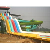 China Rainbow 4 Lines Outdoor Racer Water Slide , Water Park Equipment on sale