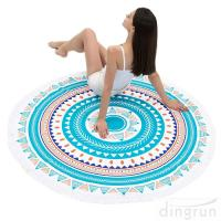 China Round Beach Towel Beach Blanket Large Microfiber Towels Yoga Mat Multi Purpose wholesale
