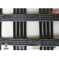 China Polyester  Geogrid Reinforcing Fabric Retaining Wall Material Bitumen Coating wholesale