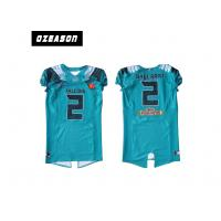 China Polyester Mesh Sublimated Football Jerseys / American Football Shirt For Training wholesale