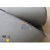 China Grey 1500gsm 1.5mm E Glass Cloth , Silicone Coated Fiberglass Cloth Sheets wholesale