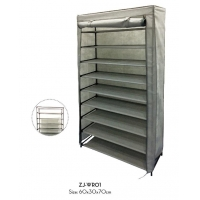 China 60x30x70cm Non Woven Wardrobe , 9 Tiers Shoe Rack With Dustproof Cover wholesale